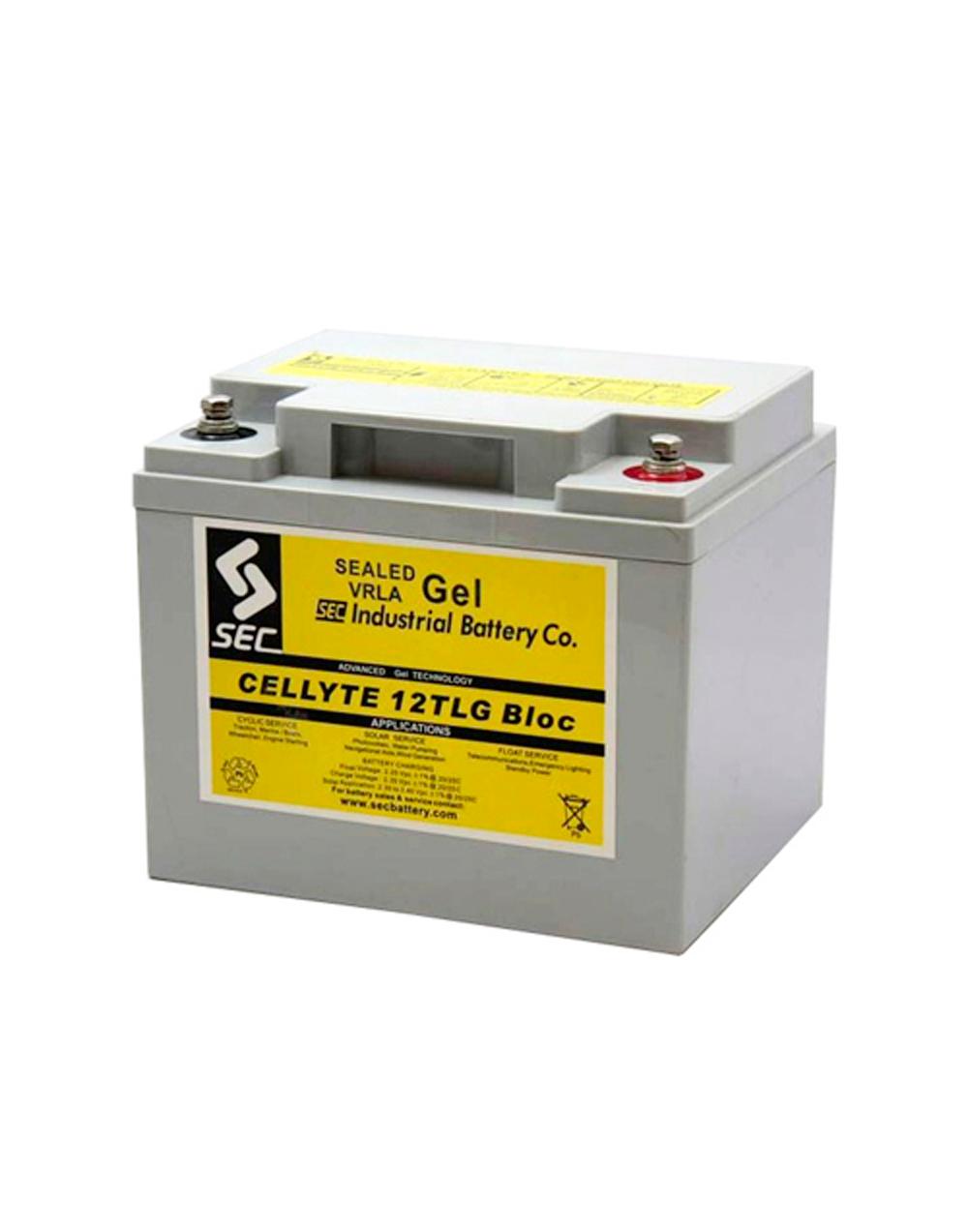 Sec TLG 40AH Full Gel Battery - Top Caddy