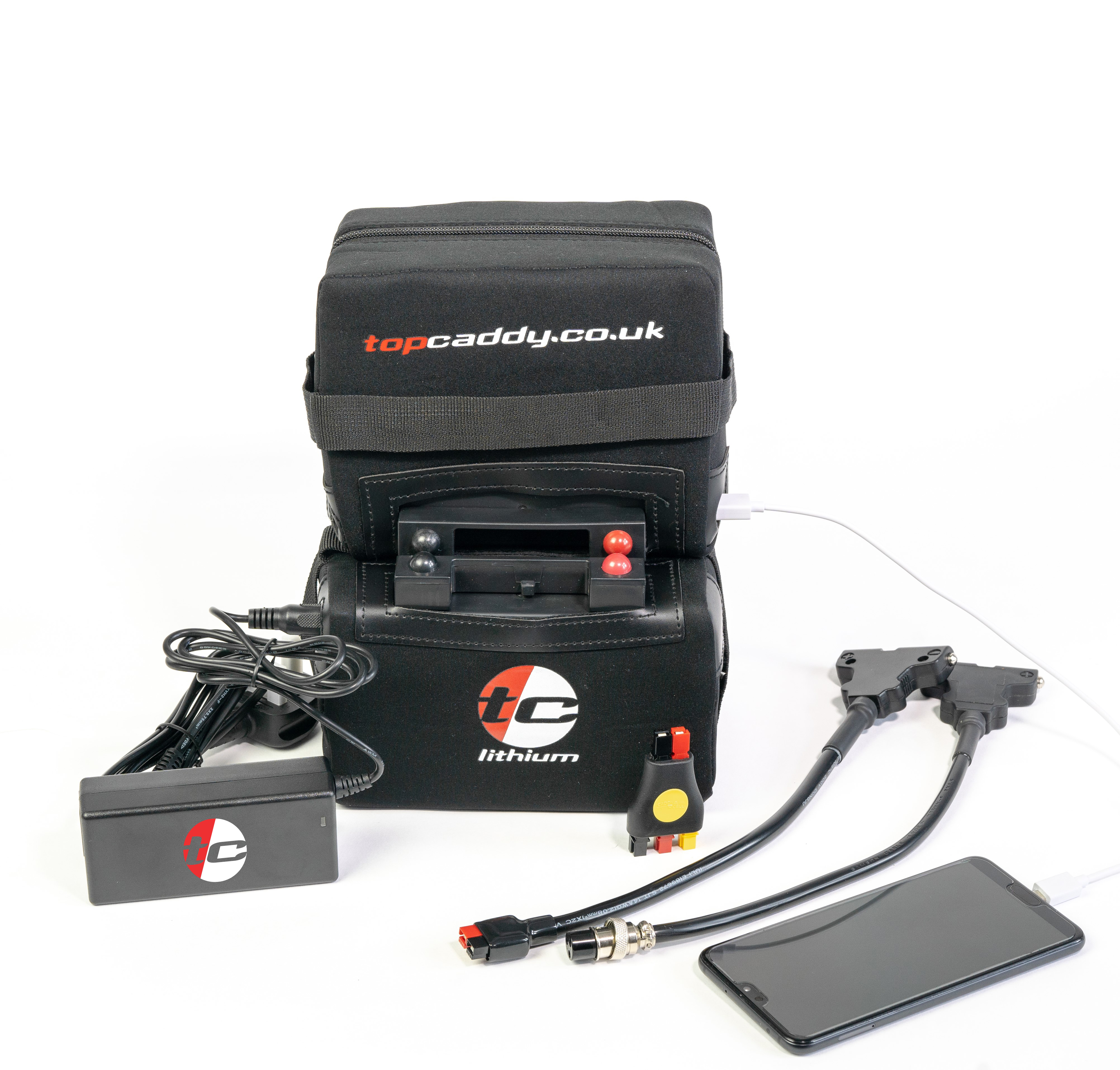 Topcaddy 36 Hole (22ah) 'USB' Lithium Battery Package - Top Caddy